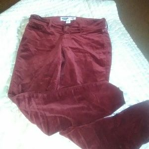 Old navy cranberry rockstar velvet